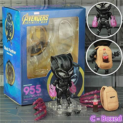 JOYCOS新しいマーベルブラックパンサーアベンジャーズ無限大戦争版センチメートルアクションフィギュアかわいいかわいい映画おもちゃ人形のねんどろいどバッグ