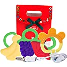 Teething Rings - Tinabless Baby Teething Toys Freezer Natural Organic Safe Teether Set for Babies, Infants and Toddlers (4 Pack)