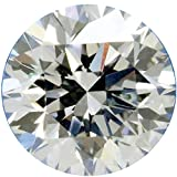 RINGJEWEL 1.06 ct 6.86 MM VS2 Round Cut Loose Real Moissanite Use 4 Pendant/Ring Genuine White L-M Color