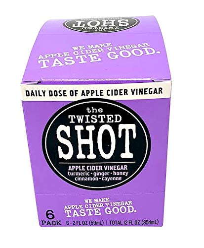The Twisted Shot - Organic Apple Cider Vinegar shot with Turmeric, Ginger, Cinnamon, Honey & Cayenne - 6-pack of 2oz shots by The Twisted Shrub (Image #5)