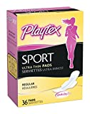 Health & Personal Care : Playtex Sport Ultra Thin Pads with Wings, Reliable Sport Level Protection for Women, Regular, 36 Count