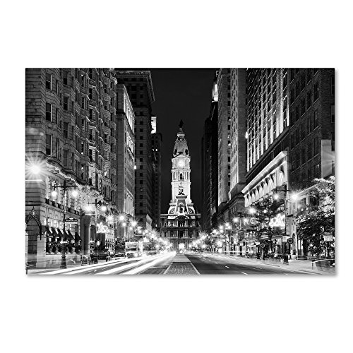 City Hall Philadelphia by Philippe Hugonnard, 16x24-Inch Canvas Wall Art