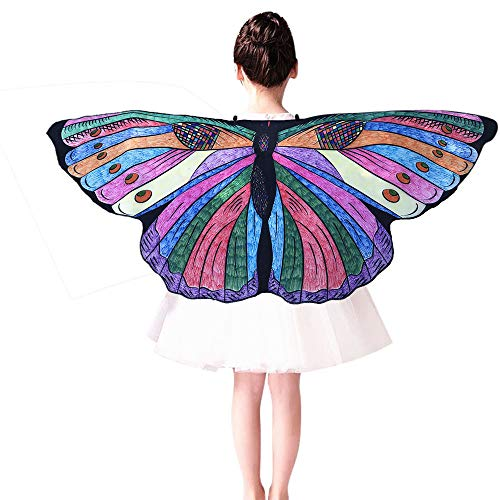 iLXHD Kids Child DIY Butterfly Cape Wings Creative Angel Wings Dress up Costume