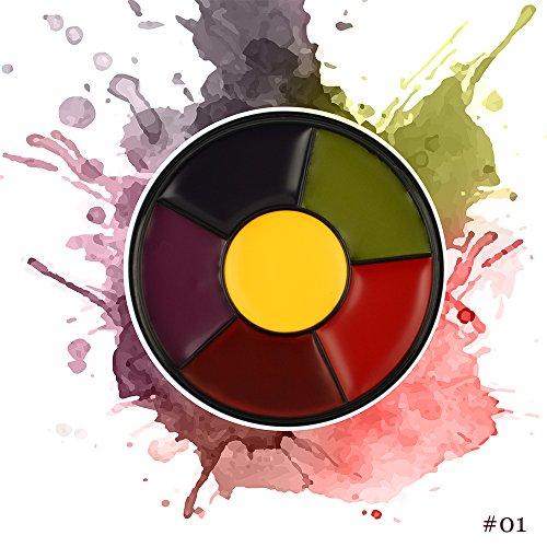 ISMINE Mini 6 Colors Face Paint Kit Cosplay Paint Kit Water Base Face-Body Paint Set for Kids ()