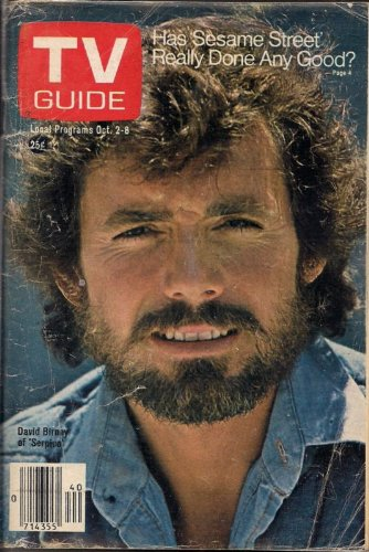 - TV Guide October 2-8, 1976 (David Birney of Serpico; Has Sesame Street Really Done Any Good?, Volume 24, No. 40, Issue #1227)