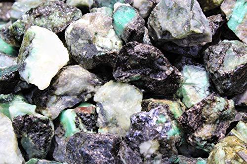 (Rainbowrecords239 - Natural Rough Emerald - 1/2 Lb Bulk Lots of Raw Stones, Rocks, Minerals for Tumbling, Cabbing, 8)