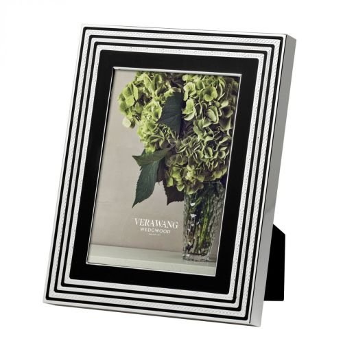 - Vera Wang Metalware With Love Noir Picture Frame 5X7