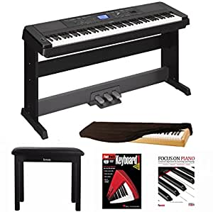 yamaha dgx660b 88 key grand digital piano bundle with yamaha lp7a 3 pedal unit knox. Black Bedroom Furniture Sets. Home Design Ideas