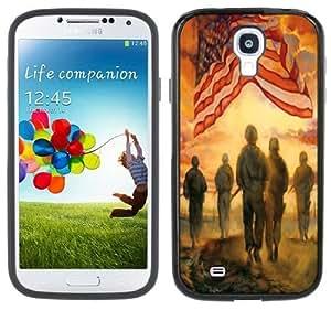 American Flag Army Handmade Samsung Galaxy S4 Black Bumper Hard Plastic Case