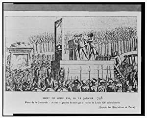 Photo louis xvi guillotine execution january 21 1793 france revolution for Poster revolution france