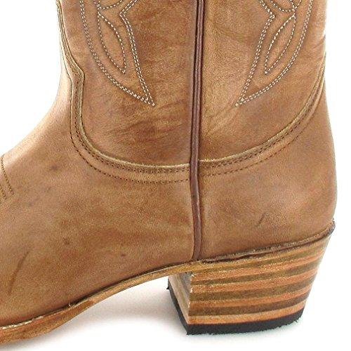 Sendra Boots 7082 Olimpia 023 Lavado Lederstiefel für Damen Braun 023 Lavado