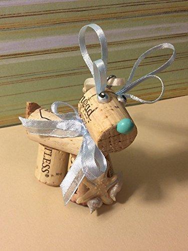 (Wine Cork Craft Holiday Christmas Beach Nautical Reindeer Wedding Favor)