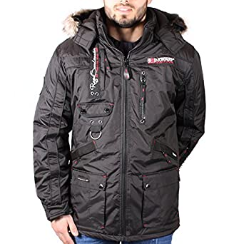 Norway Men's Black Avoriaz Parka Winter Geographical Jacket gH46q7dx7w