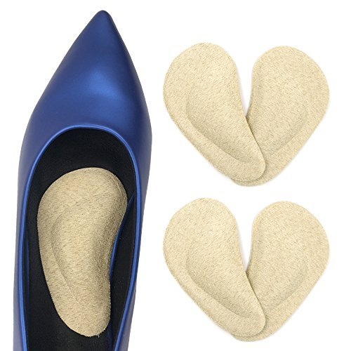Dr. Foot's Arch Support Insoles for Flat Feet, Plantar Fasciitis, Relieve Pain for Women and Men - 2pairs (Beige) (Dr Rosenbergs Instant Arches Sandal Arch Supports)