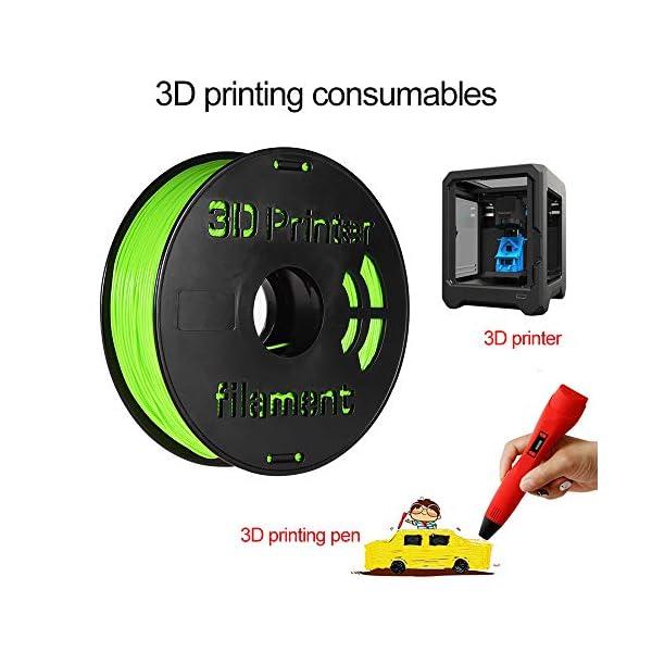 Entweg 1.75mm filament,1kg/ spool 1.75mm flexible tpu filament printing material supplies white, black, transparent for 3d printer drawing pens apple green