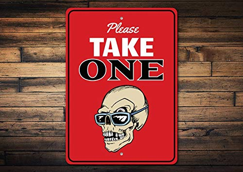 ChristBess Please Take One Sign, Halloween Lover Only, Zombie Lover Sign, Zombies, Zombie Metal Decor, Custom Scary Sign - Quality Aluminum Zombie Sign -