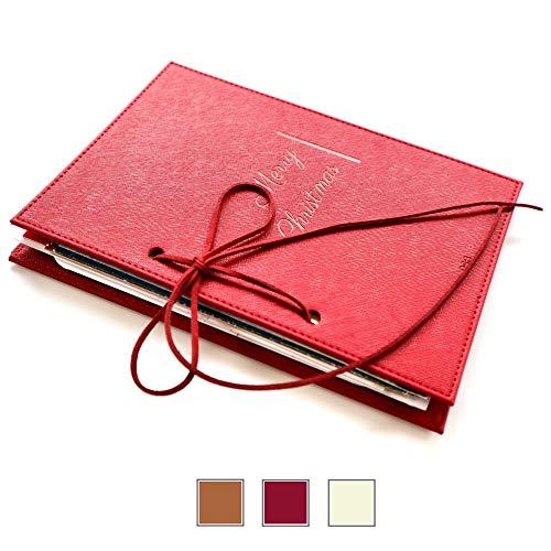 Greeting Card Organizer Made of Vegan Leather | Turn Your Greeting Cards into a Greeting Card Binder, Greeting Card Book, and Greeting Card Holder | Leather String Included, Greeting Cards Excluded
