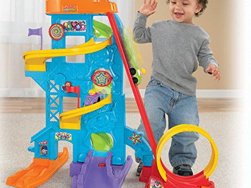 51weTG3LZZL - Fisher-Price Little People Loops 'n Swoops Amusement Park [Amazon Exclusive]