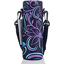 AUPET Water Bottle Carrier,Insulated Neoprene Water bottle Holder Bag Case Pouch Cover 500ML Adjustable Shoulder Strap, Great for Stainless Steel and Plastic Bottles, Sport and Energy Drinks