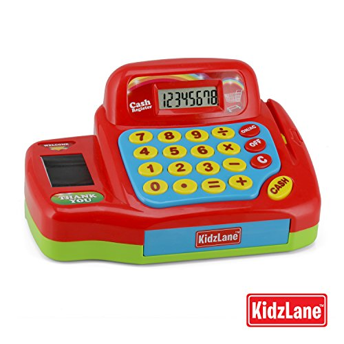 Kidzlane Interactive Electronic Cash Register Toy for Kids – 20+ Realistic Pieces Pretend Playset