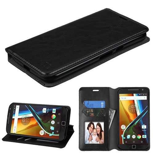 official photos a8da7 d5f12 Motorola Moto G4 Case, MOTO G (4th Generation) Case, MOTO G4 PLUS Case,  BornTech PU Leather Fold stand Wallet pouch with Credit Card Slots Phone  Cover ...