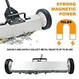 Heavy Duty Magnetic Sweeper with Wheels, Rolling