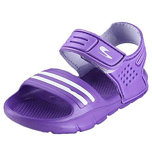hibote 2016 Kinder Sandalen Rutschfest Verschleißfeste Klein Junge Beiläufig Zehensandale Mädchen Boys Schuhe Kind Sommer Shoes Lila