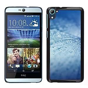 MOBMART Carcasa Funda Case Cover Armor Shell PARA HTC Desire D826 - Icy Rain Drops Strings