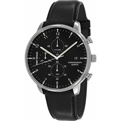 ISSEY MIYAKE Men's 'C' Quartz Stainless Steel Casual Watch, Color:Black (Model: NYAD003Y)