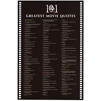 Famous Movie Quotes Gorgeous Amazon 48 Greatest Movie Quotes List Art Poster Print 48x48