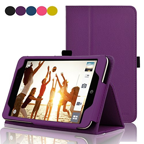 ACdream ASUS MeMO Pad 7 LTE Case, Premium PU Leather Smart Cover Case for AT&T ASUS MeMo Pad 7 LTE GoPhone Prepaid Tablet ME375CL, Dark Purple