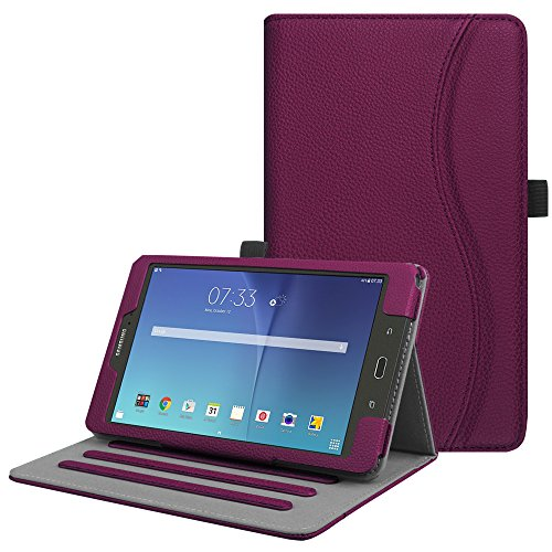 Fintie Case for Samsung Galaxy Tab E 8.0, [Corner Protection] Multi-Angle Viewing Stand Cover with Packet for Galaxy Tab E 32GB SM-T378 / Tab E 8.0-Inch SM-T375 / SM-T377 Tablet, Purple