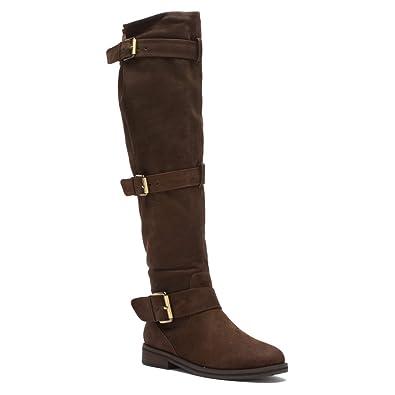 Women's Riding Boots/Gentle Souls Edgefield Dark Brown Leather