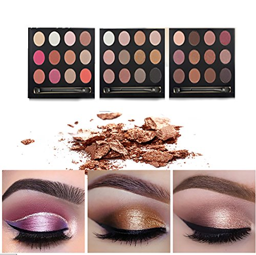 Happy Valentine's Day,Vinmax Metallic Shimmer Eye Shadow Palette,Makeup Matte/Shimmer Glitter 12 Colors Eye Shadows Warm Natural Waterproof Eye Shadows Set (Wild Lash Sparkles)