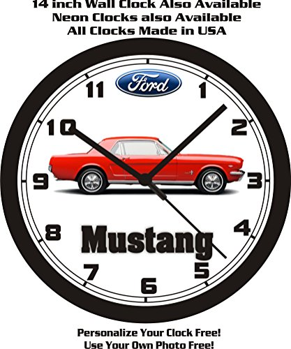 1966 FORD MUSTANG COUPE WALL CLOCK-FREE USA SHIP!