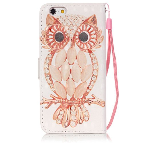 iPhone SE Bling Wallet CaseiPhone 5 5S Diamond CaseEtsue Cute Owl Rhinestone Pattern Pu Leather Strap Wallet Glitter Magnetic Book Style Card Slots Flip Case Cover with Stand for iPhone SE5S5Blue Styl