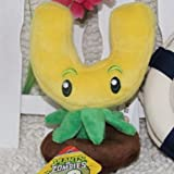 """Plants Vs Zombies Plush Toy Gold Magnet 17cm/6.7"""" Tall (Small Size)"""