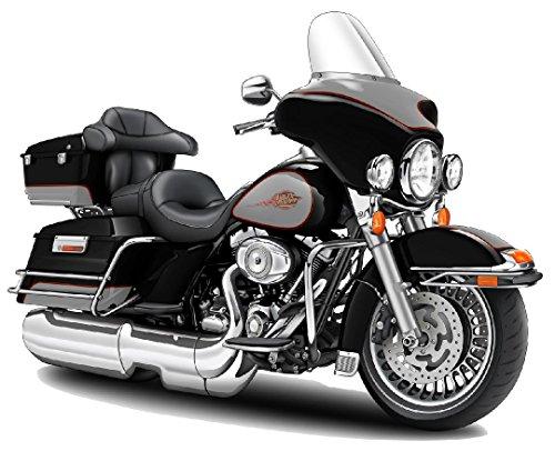 Electra Glide WALL DECAL 2ft long Sport Harley Davidson Bike Motorcylce Sticker Man Cave Garage Boys Room Decor
