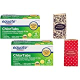 Equate: Chlortabs Tablets Antihistamine Bundle. Includes 2 Packs of 100 Count Tablets and 2 Pocket Size Tissue Packs (styles may vary). Compare to Chlor-Trimeton Allergy Tablets Active Ingredients.