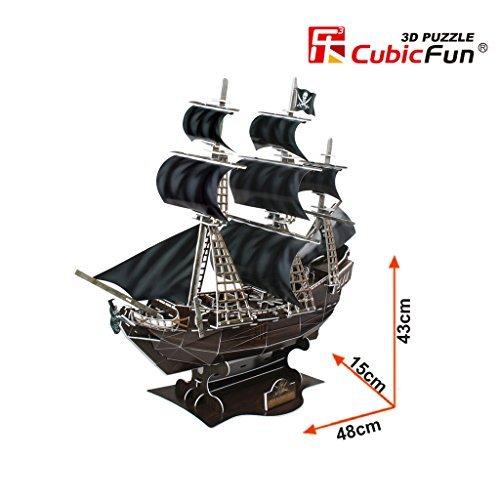 Queen Anne's Revenge, 155 Piece 3D Jigsaw Puzzle Made by CubicFun 3D Puzzle Pirate Ship Revenge