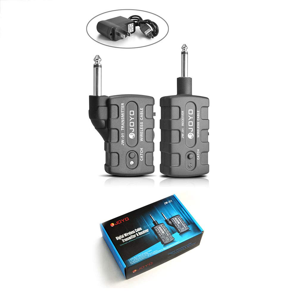 Leoie Digital Pro Guitar Bass Wireless Rechargeable 2.4Ghz Audio Transmitter Receiver Kit US Plug by Leoie (Image #4)