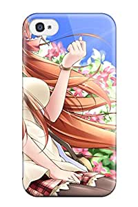 animal ears brownflowers Anime Pop Culture Hard Plastic iPhone 4/4s cases