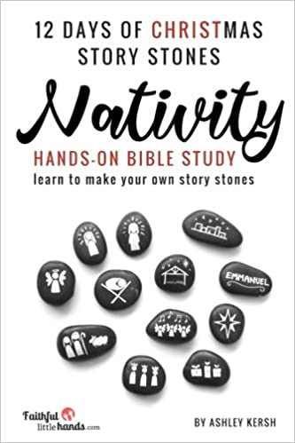 12 days of christmas story stones nativity hands on bible study ashley kersh 9781979255745 amazoncom books - 12 Days Of Christmas Christian Version
