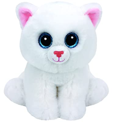 Ty Pearl Cat Plush, White, Medium: Toys & Games