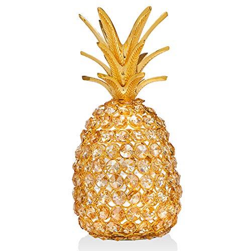 Pineapple Pillar - Godinger Glam Pineapple Fruit Holiday Decoration - Gold
