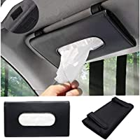 Jiadinglimian Car Tissue Holder, PU Leather Tissue Box, Hanging Paper Towel Clip, Sun Visor Napkin Holder, Car Visor…