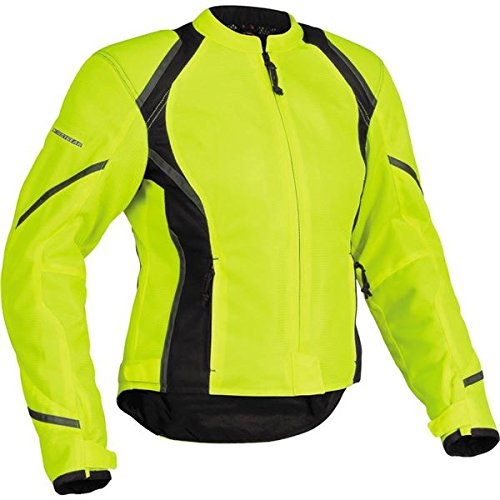 Jacket Tex Leather Mesh (Firstgear Mesh-Tex Women's Motorcycle Riding Jacket (DayGlo, Medium))