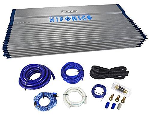 Hifonics BXX3000.1D 3000w RMS Car Audio Mono Amplifier Class D Brutus+Amp Kit ()