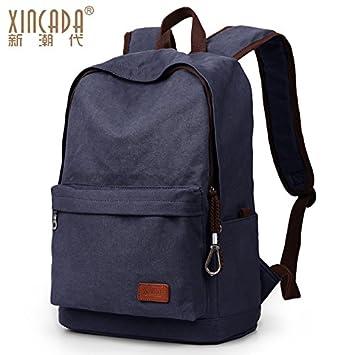 Los hombres CengBao mochila lienzo retro hombros macho high school campus mochilas escolares moda versión del paquete de viaje de placer ganó, ...