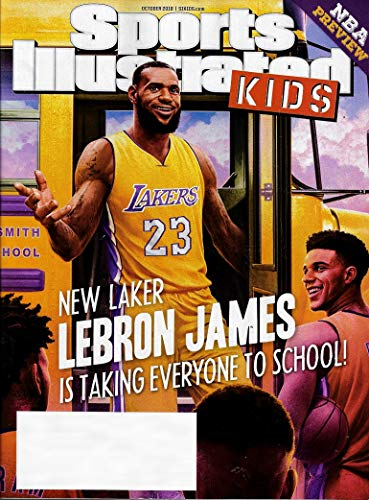 Sports Illustrated Kids Magazine October 2018 LEBRON JAMES NEW LAKER